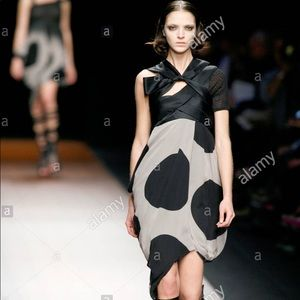 GIVENCHY Strapless Dot Print Silk Dress US4, FR36